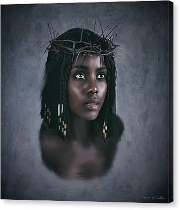 Black Jesus Portrait V Canvas Print