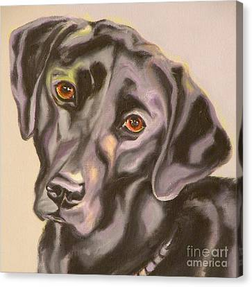 Black Lab Aint No Cure For Love Canvas Print by Susan A Becker