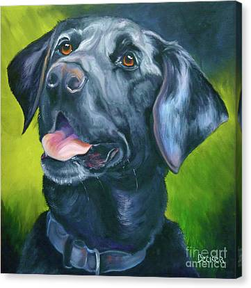 Black Lab Forever Canvas Print by Susan A Becker