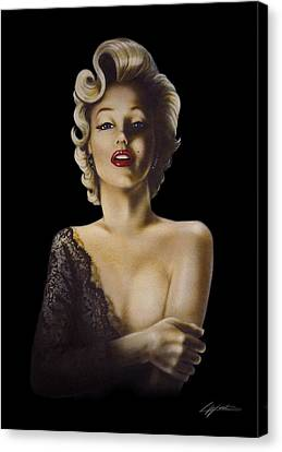 Black Lace Canvas Print