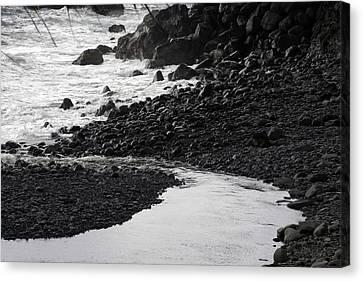 Black Lava Beach, Maui Canvas Print