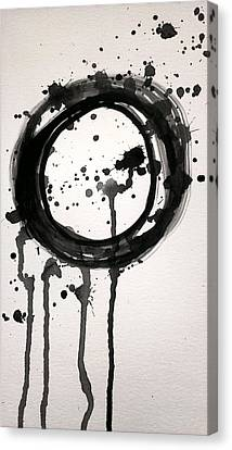 Licorice Canvas Print - Black Licorice Lollipop Abstract by LKB Art and Photography