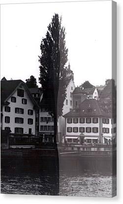 Black Lucerne Canvas Print by Christian Eberli