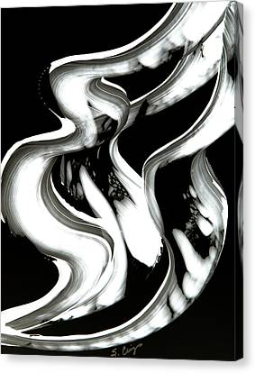 Black Magic Inverted Canvas Print by Sharon Cummings