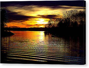 Lake Wylie Canvas Print - Black Magic On The Water by FreeBird Skains