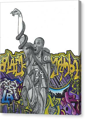 Black Mamba Canvas Print by Steve Weber