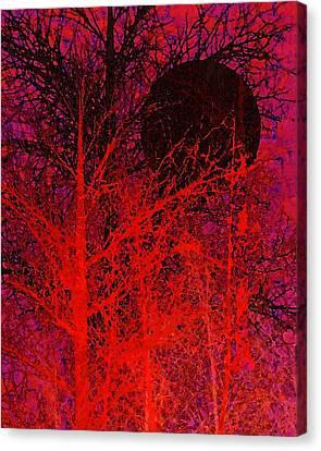 Black Moon Canvas Print by Richard Rizzo