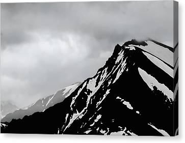Black Mountain Canvas Print by Keith Bowen