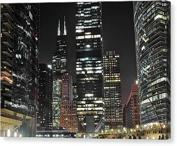 Black Night 2017 In The Windy City Canvas Print