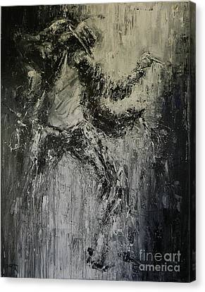 Black Or White Canvas Print by Dan Campbell