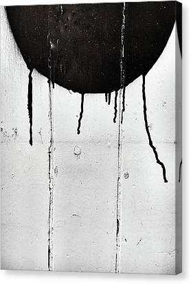 Emulsion Canvas Print - Black Paint Marks by Tom Gowanlock