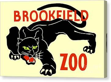 Black Panther Brookfield Zoo Ad Canvas Print by Heidi De Leeuw