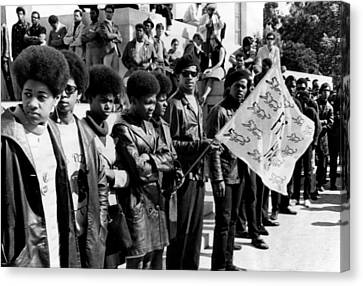 Black Panther Party Members Show Canvas Print by Everett