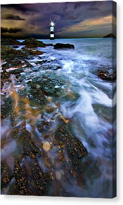 Guides Canvas Print - Black Point Light by Meirion Matthias