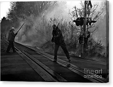 Black Powder Shooters Canvas Print by JW Hanley