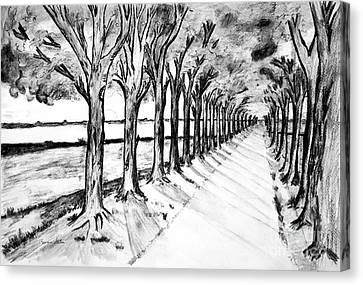 Black Promenada Canvas Print