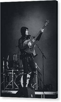 Black Rebel Motorcycle Club Playing Live Canvas Print by Marco Oliveira