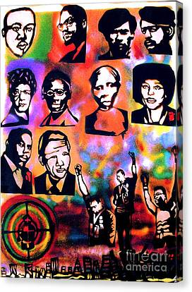 Black Revolution Canvas Print by Tony B Conscious