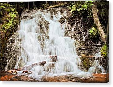 Marquette Canvas Print - Black River Falls by Kendall Tabor