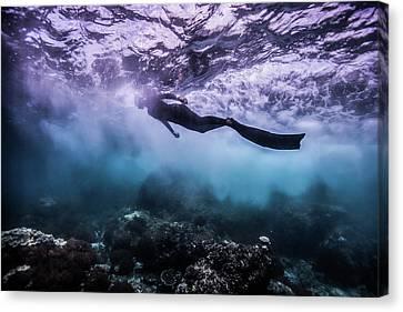 Apnea Canvas Print - Black Rock by One ocean One breath