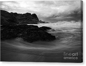 Black Rock  Swirl Canvas Print by Mike  Dawson