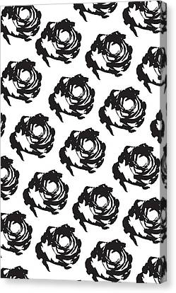 Pattern Canvas Print - Black Rose Pattern by Cortney Herron