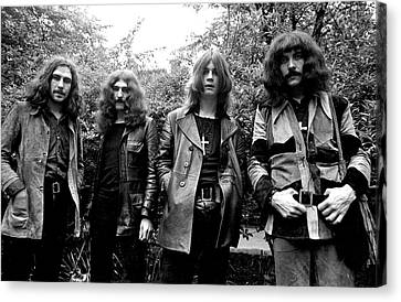 Canvas Print featuring the photograph Black Sabbath 1970 #3 by Chris Walter