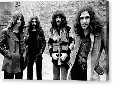 Canvas Print featuring the photograph Black Sabbath 1970 #4 by Chris Walter