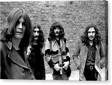 Canvas Print featuring the photograph Black Sabbath 1970 #5 by Chris Walter