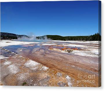 Black Sand Basin In Yellowstone National Park Canvas Print by Louise Heusinkveld