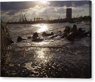 Canvas Print featuring the photograph Black Sea by Evelina Popilian
