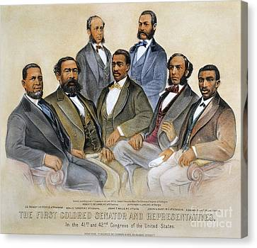 Black Senators, 1872 Canvas Print by Granger