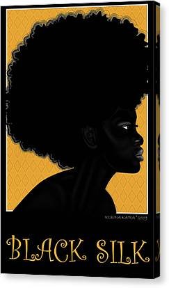 Black Silk 3d Canvas Print