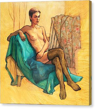 Black Stockings Canvas Print by Roz McQuillan