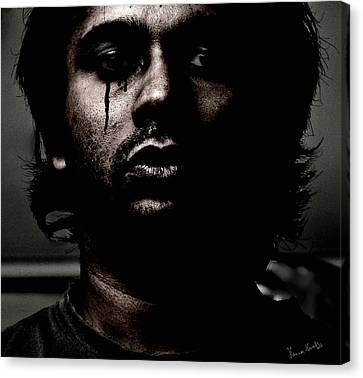 Black Tears Canvas Print by Venura Herath