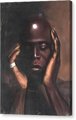 Black Thought Canvas Print by L Cooper