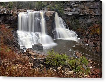 Canvas Print featuring the photograph Blackwater Falls by Dung Ma