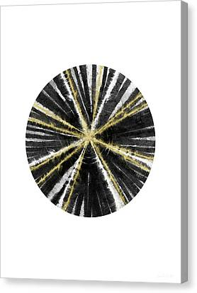 Black, White And Gold Ball- Art By Linda Woods Canvas Print by Linda Woods