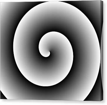 Mills Canvas Print - Black White Spiral  by Marianna Mills