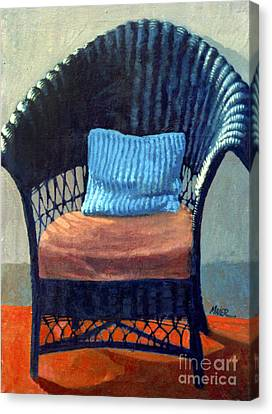 Black Wicker Chair Canvas Print