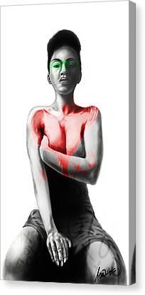 Black Xoxo Canvas Print by AC Williams