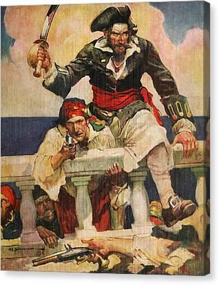 Blackbeard The Buccanneer Canvas Print by ArtworkAssociates