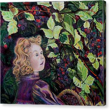 Blackberry Elf Canvas Print by Susan Moore