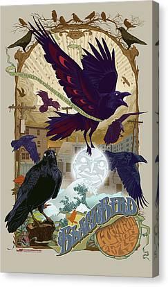 Blackbird 1 Canvas Print by Nelson Garcia