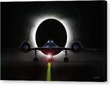 Shock Canvas Print - Blackbird Eclipse by Peter Chilelli