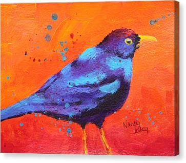 Blackbird II Canvas Print by Nancy Jolley