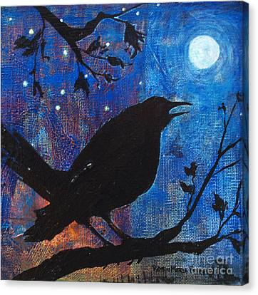 Blackbird Singing Canvas Print by Robin Maria Pedrero