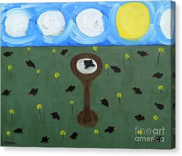 Blackbirds Canvas Print by Patrick J Murphy