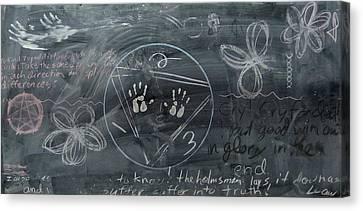 Blackboard Science And Art II Canvas Print by Stephen Hawks