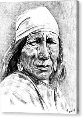 Blackfoot Woman Canvas Print by Toon De Zwart